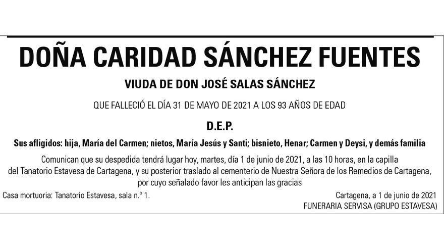 Dª Caridad Sánchez Fuentes
