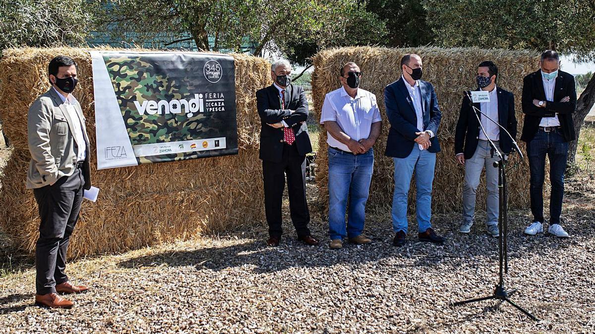 Presentación de la Feria Transfronteriza de Caza y Pesca, Venandi, ayer en Ifeza.