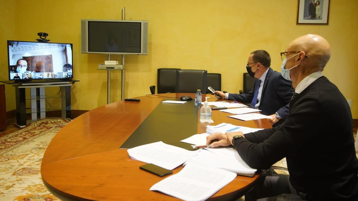 El subdelegado en la reunión telemética con responsables de ayuntamientos