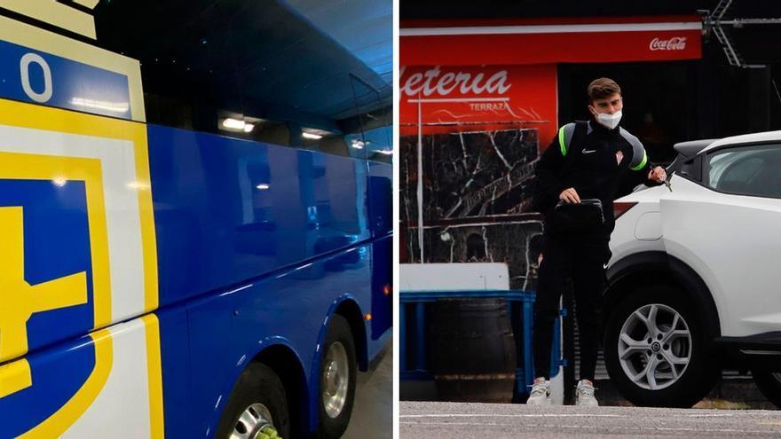 Los clubes asturianos, preparados: el Sporting ya está en Mareo para jugar el derbi y el Oviedo en el hotel de concentración