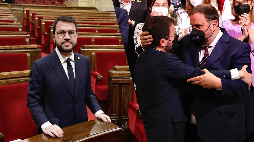 """Pere Aragonès, investido 'president': """"Gobernaré para hacer posible la independencia de Cataluña"""""""