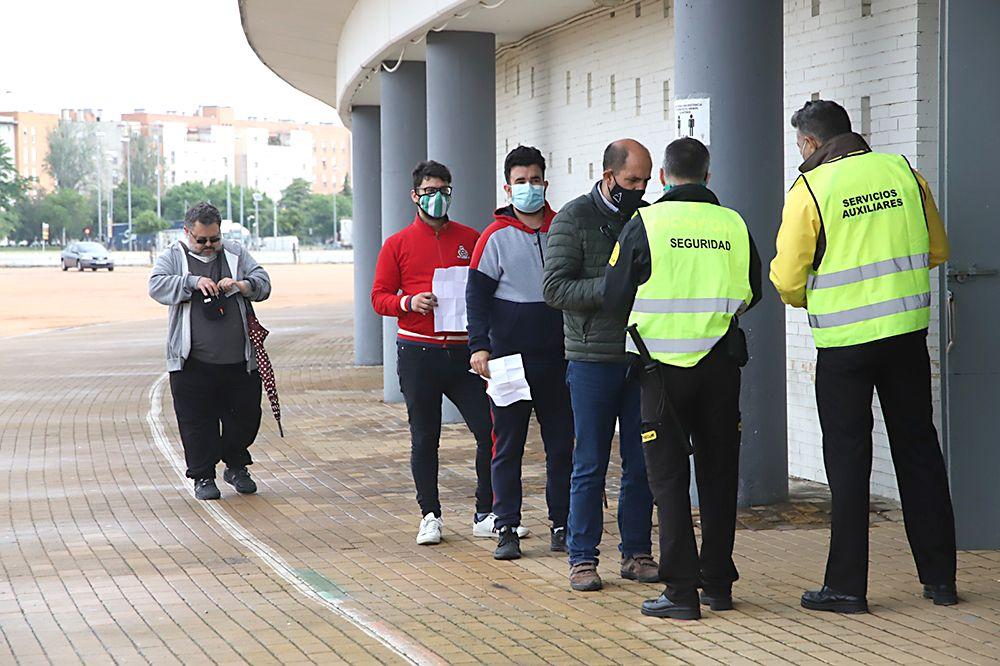 Aficionados asistentes al encuentro Córdoba CF-Tamaraceite
