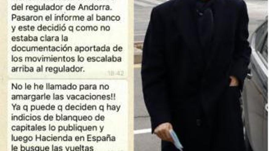 Los mensajes del clan Zaplana que revelan un chivatazo de Andorra