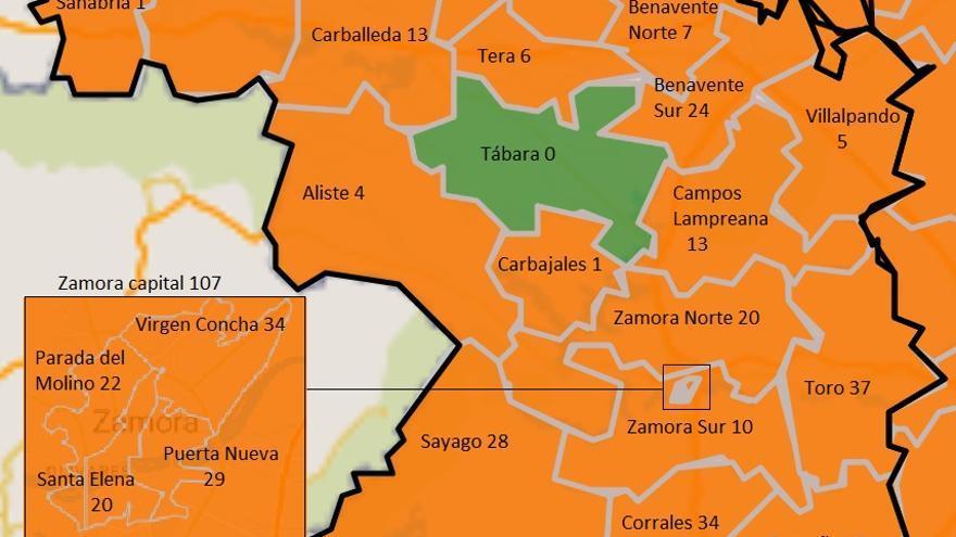 Toro lidera el incremento de contagios en Zamora, con 17 positivos más