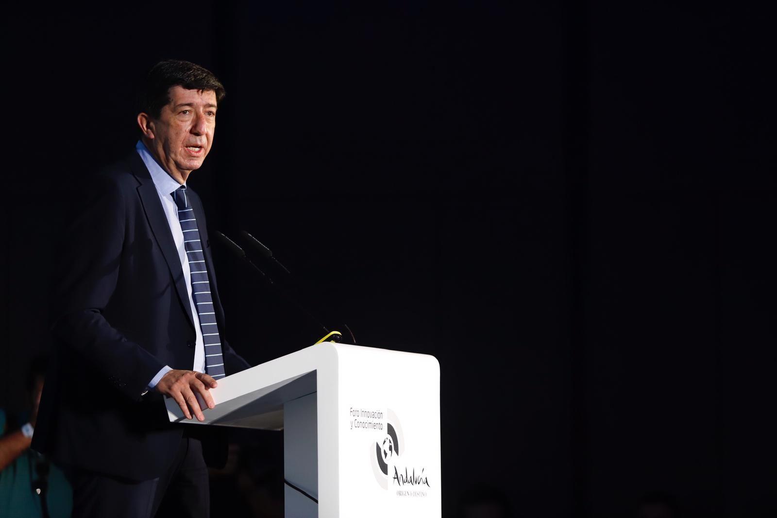 Juan Marín en el Foro de Innovación y Conocimiento 'Andalucía, origen y destino'.