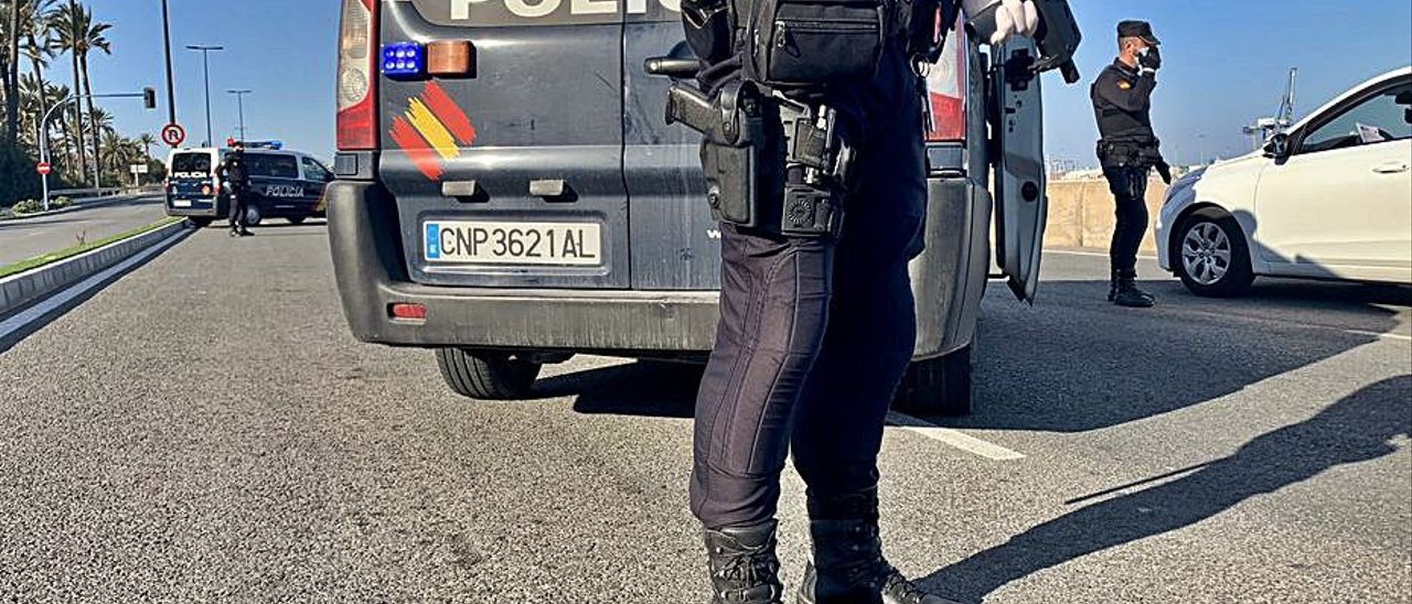 Control policial durante el estado de alarma.  