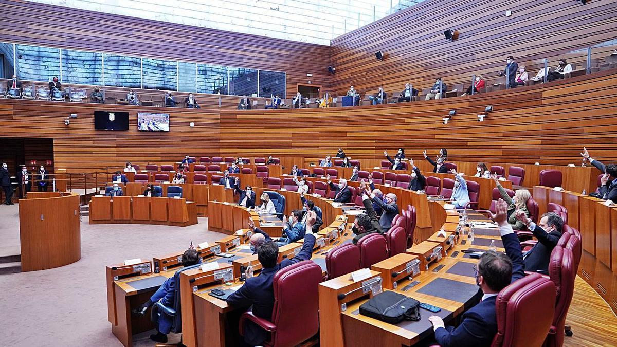 Votación en el pleno de las Cortes. | Ical