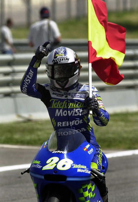 Dani Pedrosa se estrenó en el Mundial en el año 2001 y en 2003 se proclamó campeón del mundo de 125cc. EFE