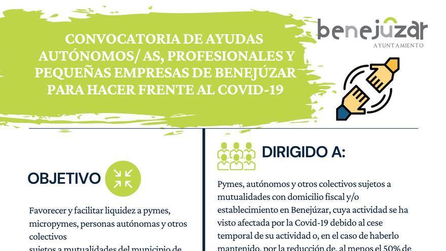 Abierto el plazo de solicitudes para las ayudas a empresarios de Benejúzar