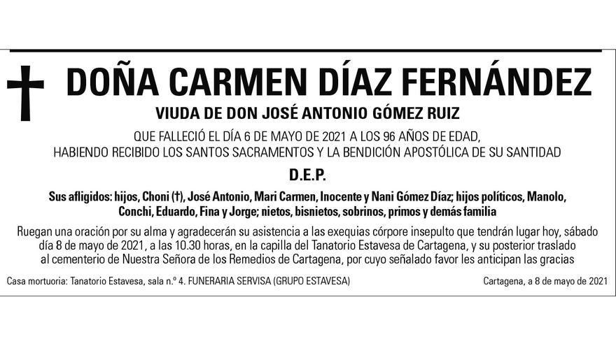 Dª Carmen Díaz Fernández