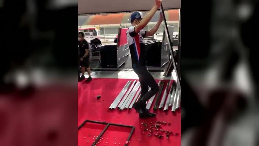Àlex Márquez, el bicampeón que monta y desmonta su box