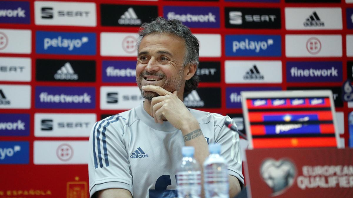 The national soccer coach, Luis Enrique Martínez.