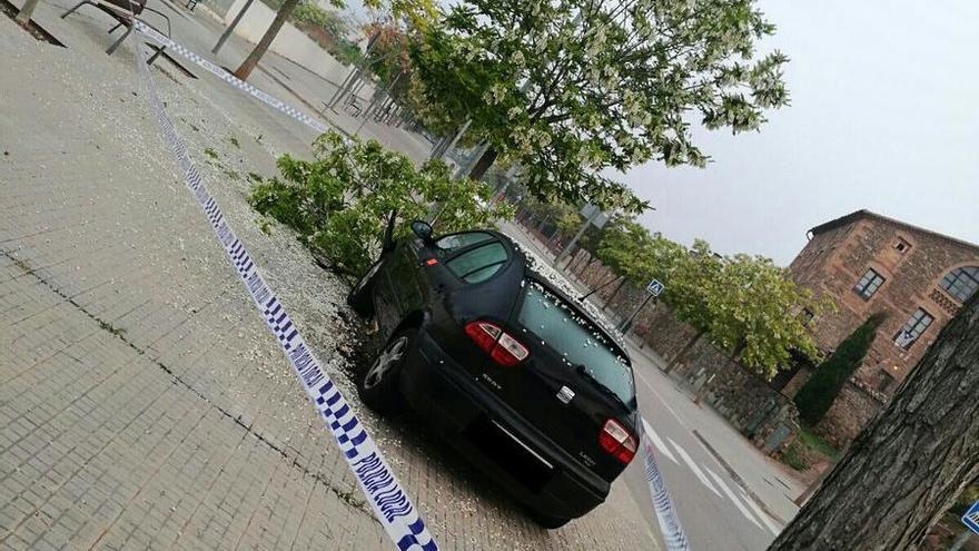Una conductora beguda s'accidenta a Santpedor quan fugia de la policia