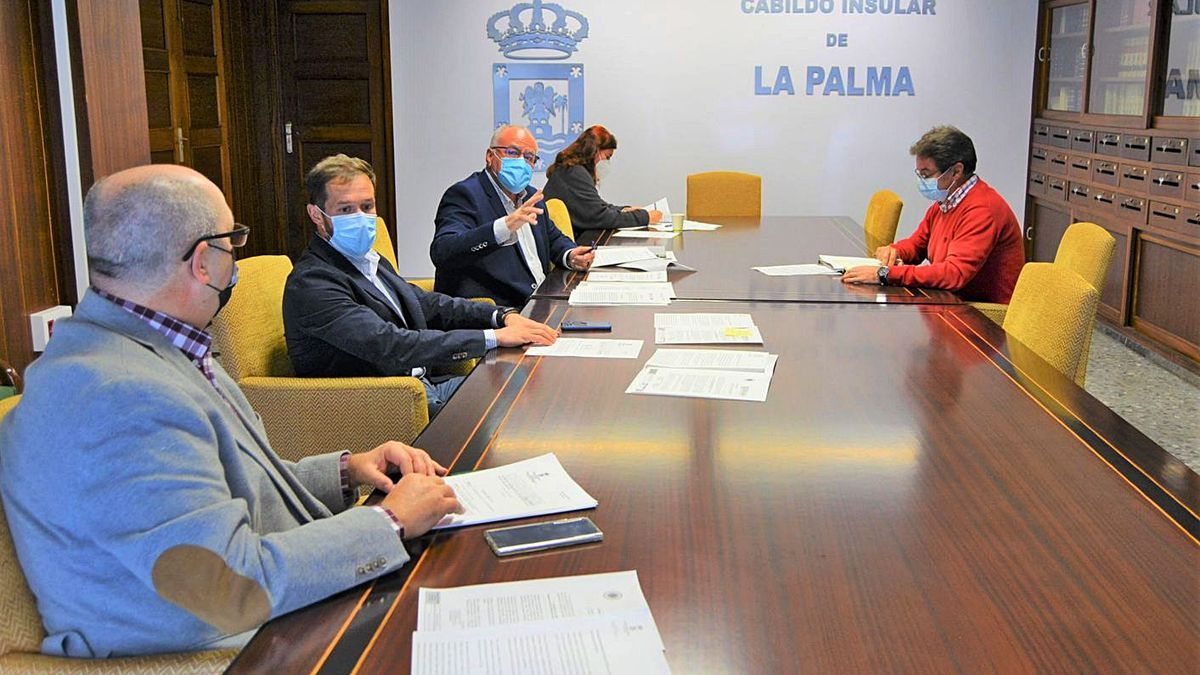 Junta de Portavoces del Cabildo de La Palma.