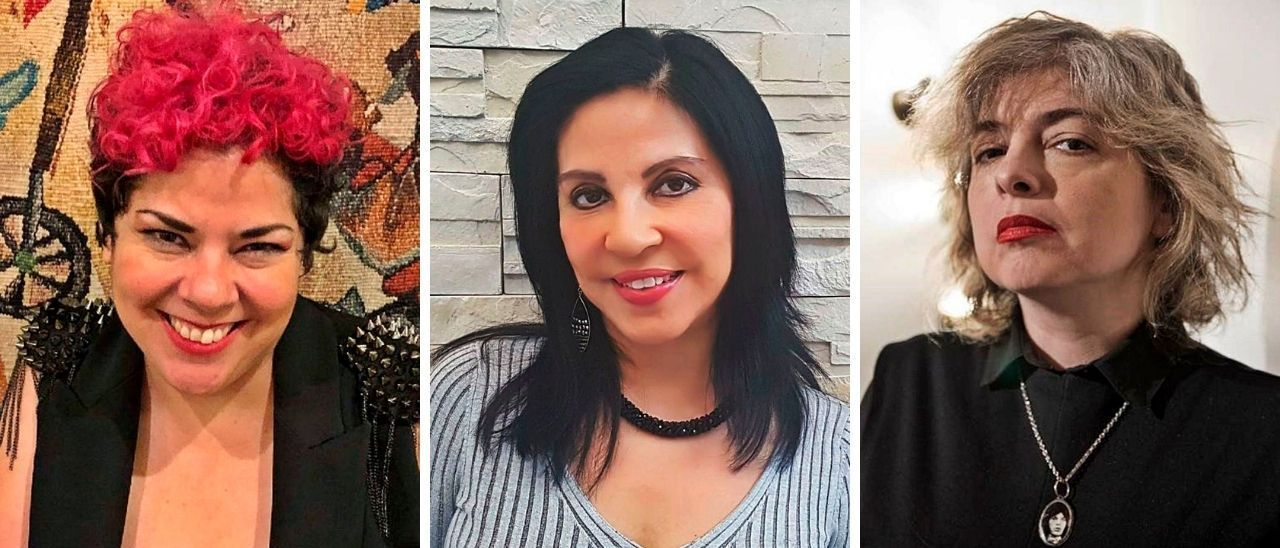 María Fernanda Ampuero, Giovanna Rivero y Mariana Enríquez.
