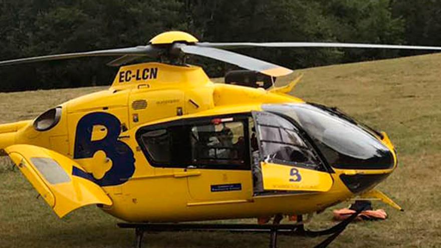 Herido un senderista de 68 años al caer veinte metros en una ruta en Ponga