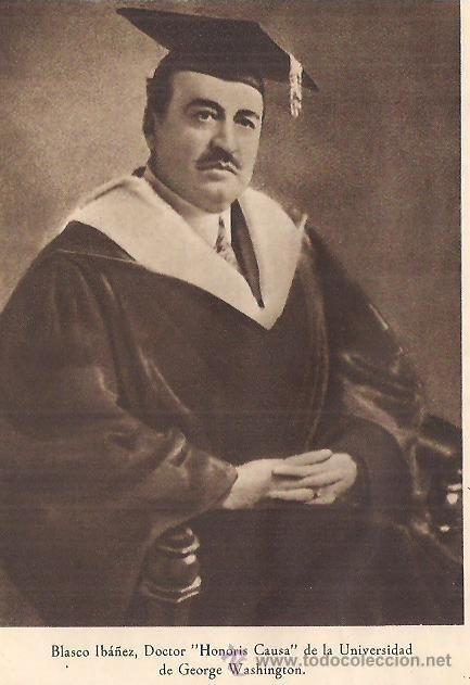Un siglo del doctorado honoris causa de Blasco Ibáñez por la Universidad George Washington de EEUU