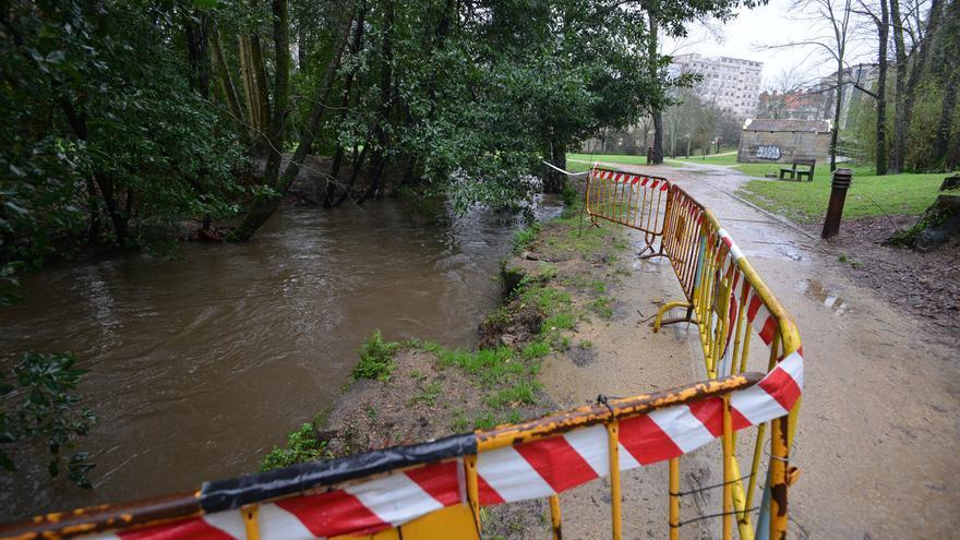 Las intensas lluvias dejan los ríos de Pontevedra con mucho caudal de agua