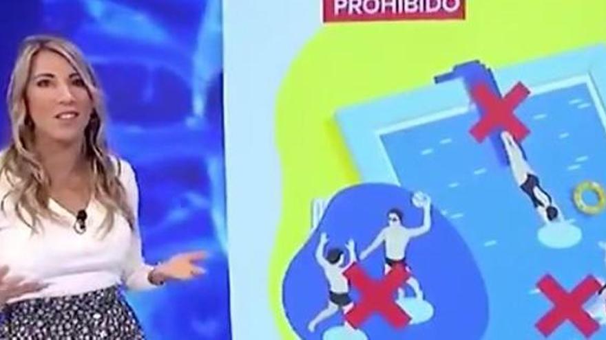 """El jocoso lapsus de una presentadora de LaSexta: """"Prohibido correrse en las piscinas"""""""