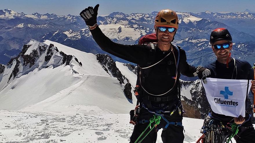 Los montañeros zamoranos completan la integral de Peuterey