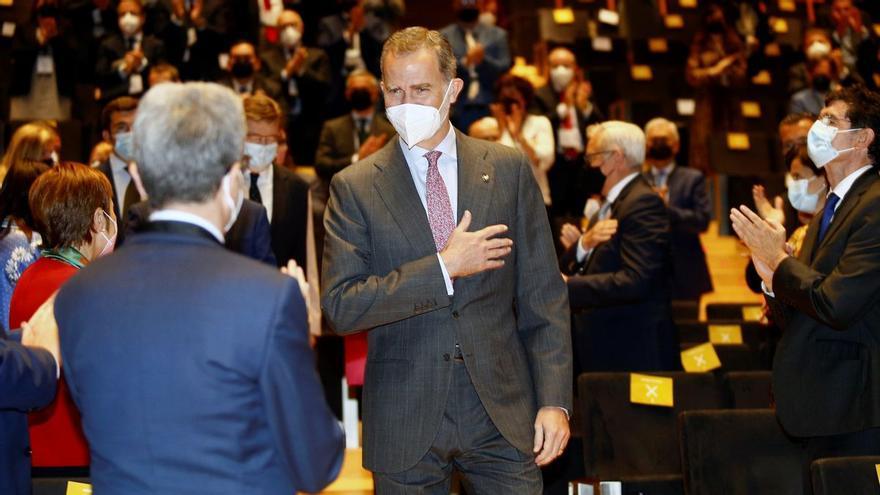 Felipe VI muestra su respaldo al tejido empresarial con su presencia en Castelló