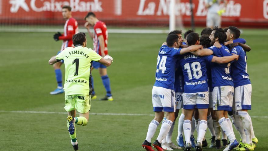 El bisturí azul del partidazo de Asturias: Un buen Oviedo, muy serio atrás, dejó sin opciones al Sporting