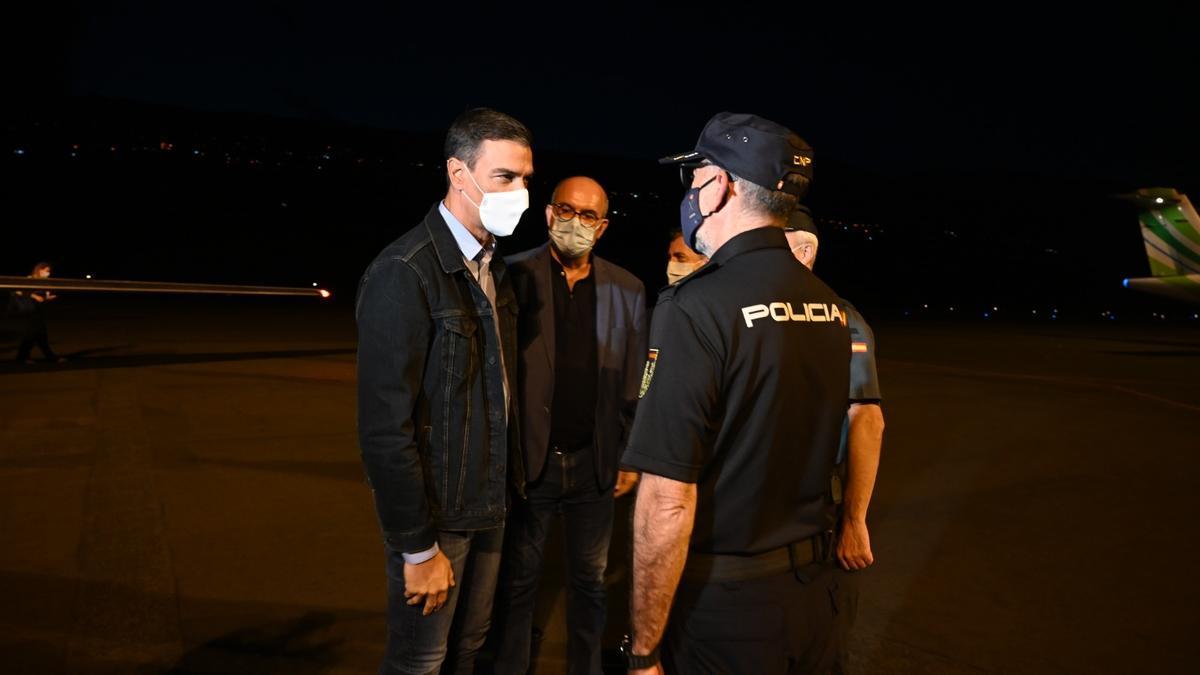 Pedro Sánchez llega a La Palma