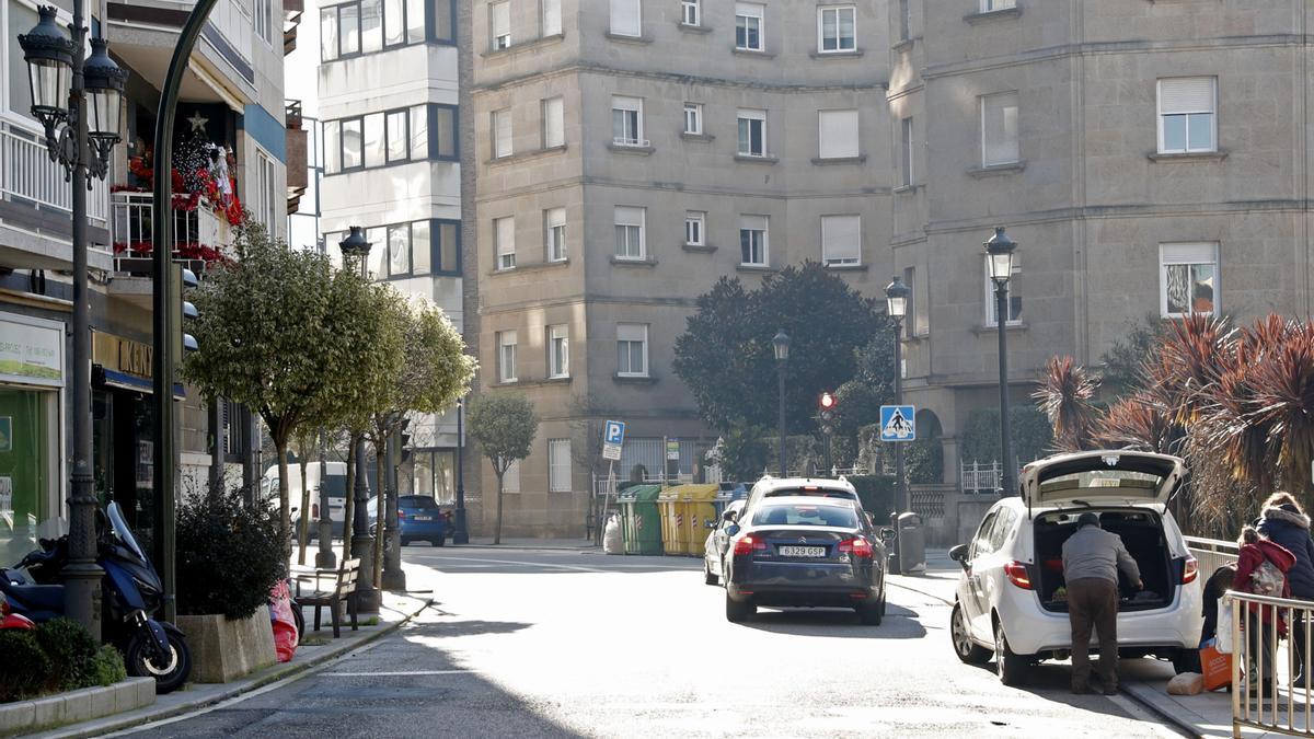 Vista de la calle López Mora en Vigo.