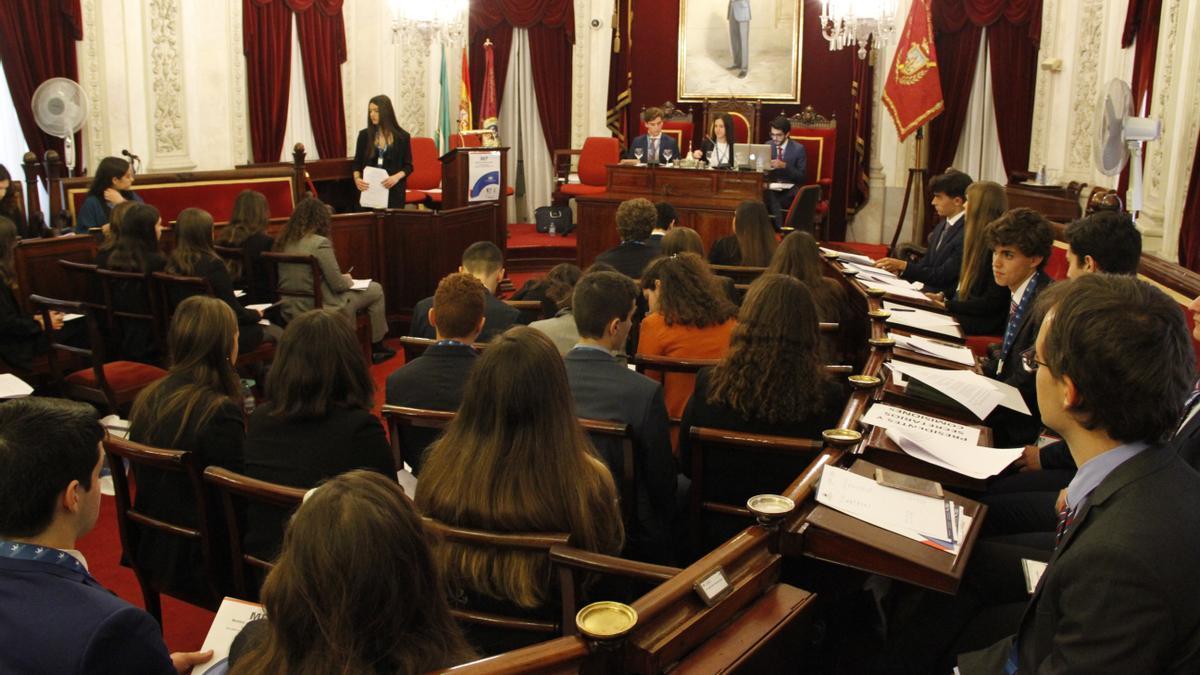 Estudiantes del IES Haría de Las Palmas participan junto a otros de Andalucía, Ceuta y Melilla en debates cuyas conclusiones trasladarán al Parlamento Europeo