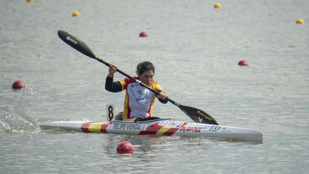 Inés Felipe, durante la competición desarrollada en Hungría.