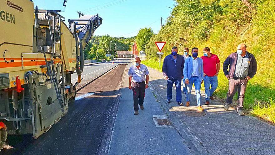 Comienzan las obras en la carretera Rodeiro-Agolada