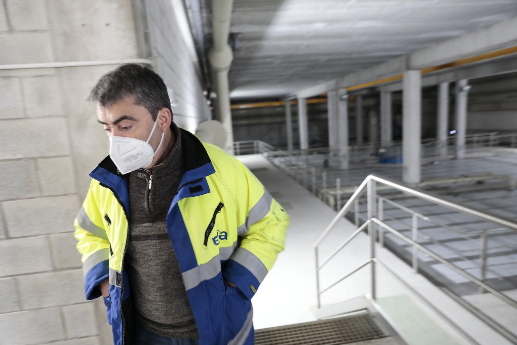 Así es el interior de la depuradora del este de Gijón