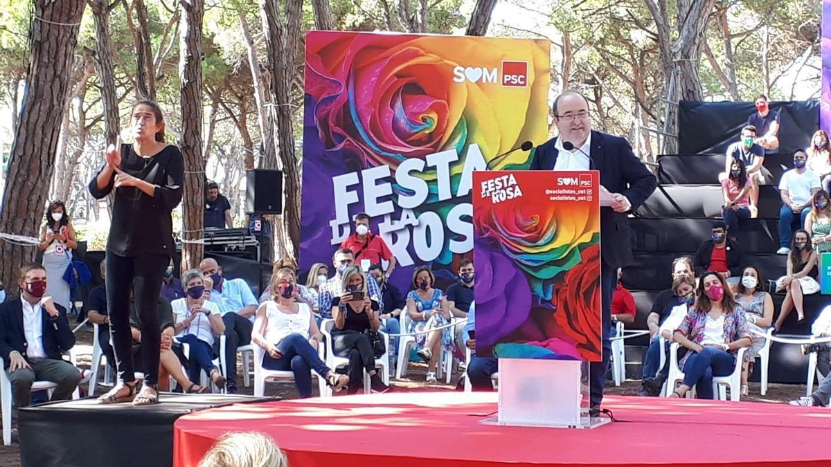 El ministro de Cultura y Deporte y primer secretario del PSC, Miquel Iceta.