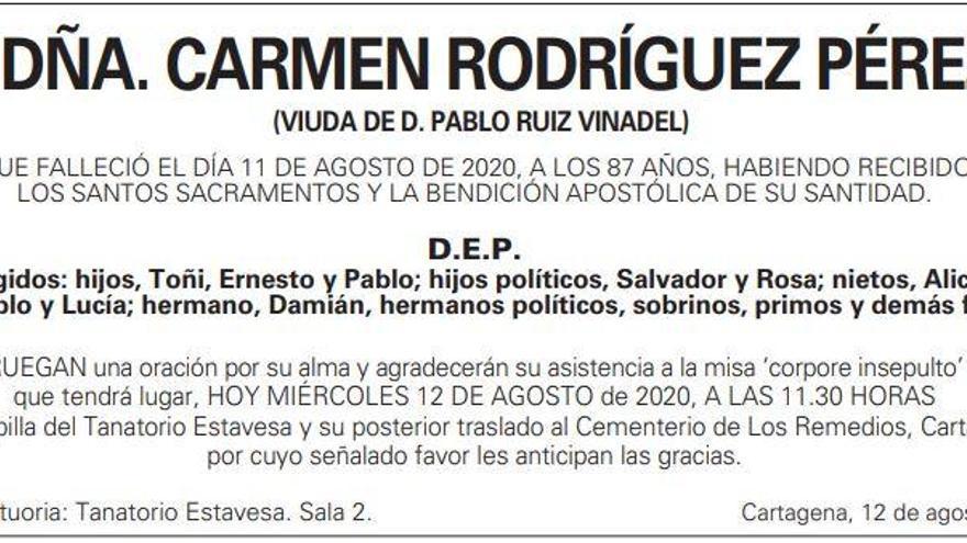 Dña. Carmen Rodríguez Pérez