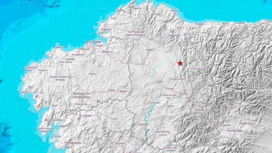 Meira registra un terremoto de 3 grados que hace vibrar la Terra Chá y Lugo