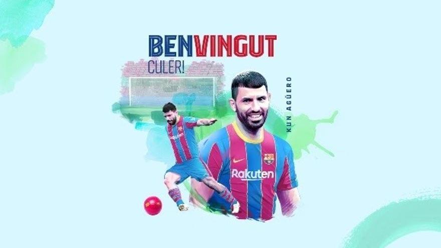 'Kun' Agüero fitxa pel Barça fins el 2023