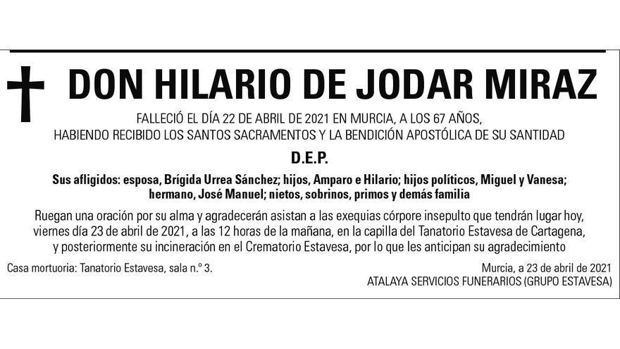 D. Hilario de Jodar Miraz