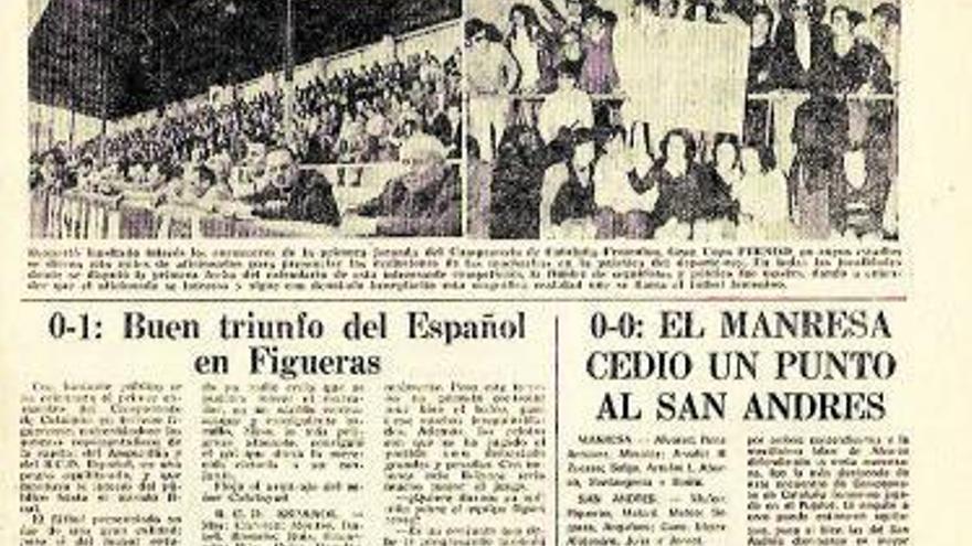 Manresa va viure ara fa cinquanta anys el primer partit oficial de futbol femení