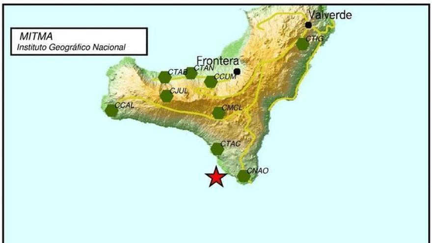 El Hierro registra un terremoto de 3,2 grados en el Mar de Las Calmas