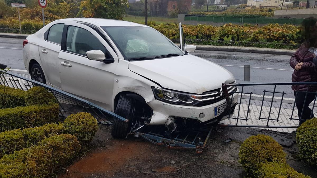 El accidente ocurrido esta tarde en Catoira.