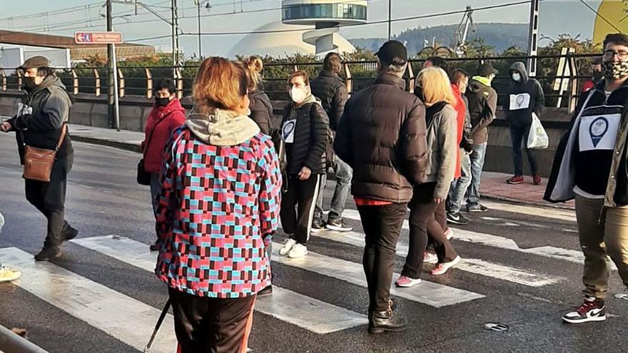 Caminatas de protesta en Avilés y Llanes