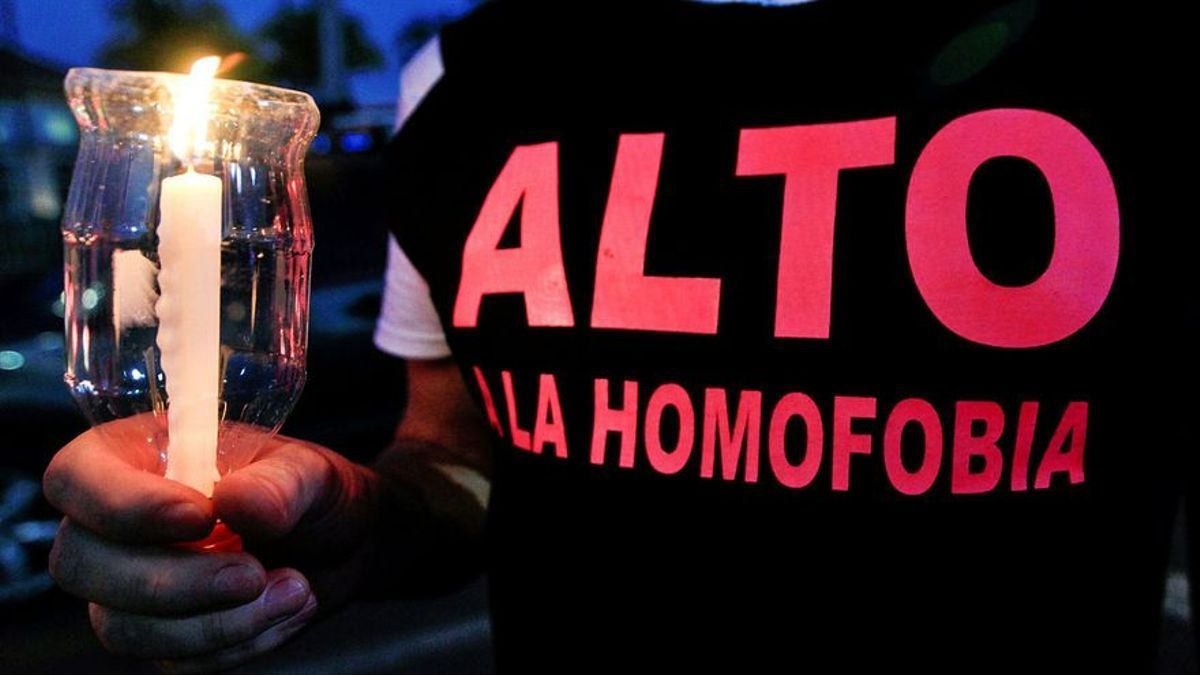 Manifestación contra la homofobia en España.