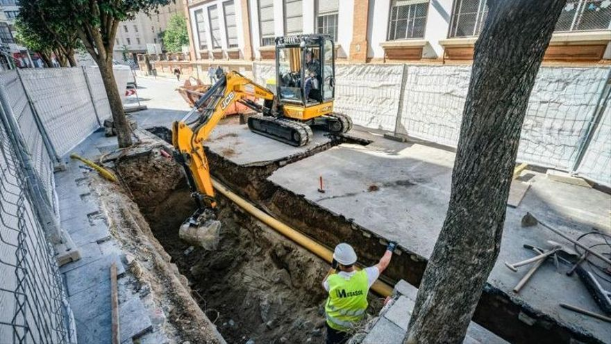 Comienzan los trabajos para soterrar los contenedores de Alonso de Celada