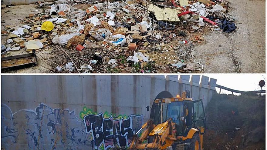 El Ayuntamiento de Requena elimina varios vertederos ilegales en la población