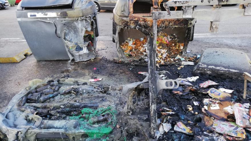 Preocupación en El Polígono de Gijón: segundo incendio en contenedores en solo tres días