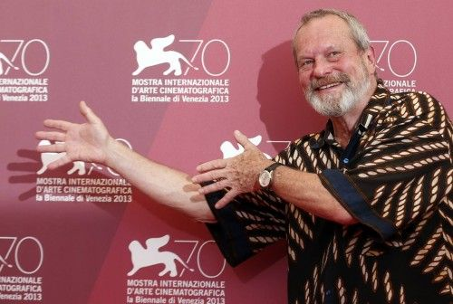 "Director Gilliam poses during a photocall for his movie ""The Zero Theorem"" during the 70th Venice Film Festival in Venice"
