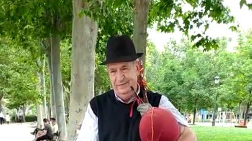 VÍDEO   La gaita sanabresa toma El Retiro de Madrid