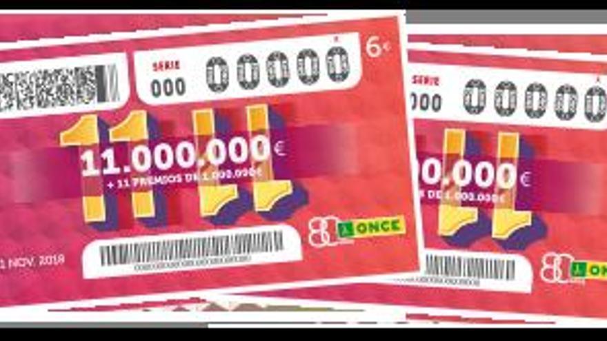 El gran sorteo 11 del 11 de la ONCE del domingo 11 de noviembre ha sido para estos números