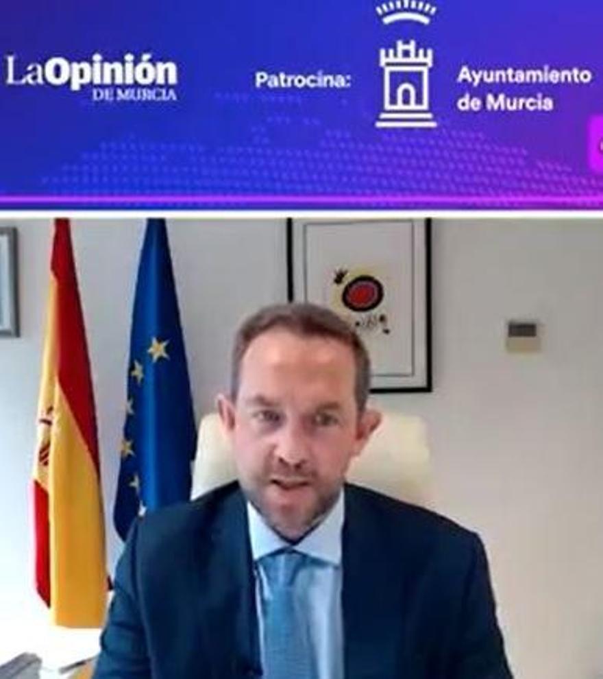 Fernando Valdés, secretario de Estado de Turismo, durante el evento.