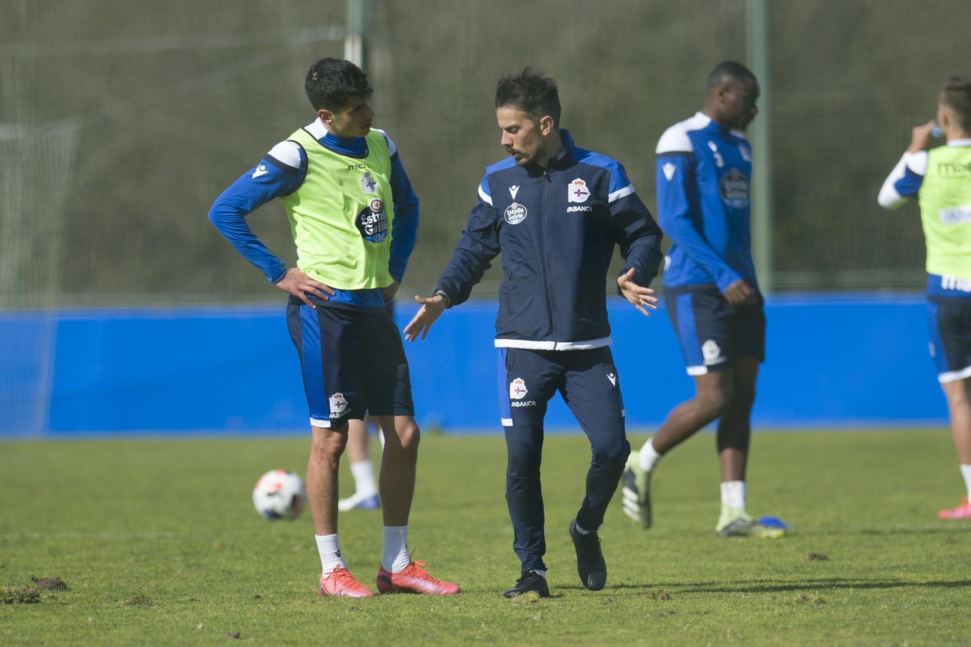 Entrenamiento del Deportivo en Abegondo.
